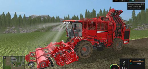 Комбайны для игры мод Мод комбайн «Holmer TerraDos T4 30 v2.0» для Farming Simulator 2017