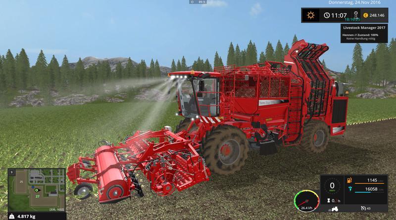 Комбайны для игры мод Мод комбайн «Holmer TerraDos T4 30 v2.0» для Farming Simulator 2017
