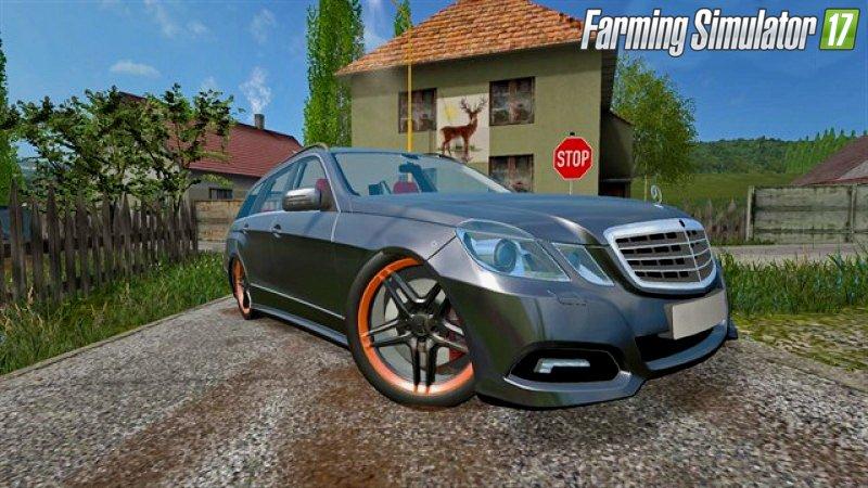 Машины для игры мод Мод машина «Mercedes-Benz E350» для Farming Simulator 2017