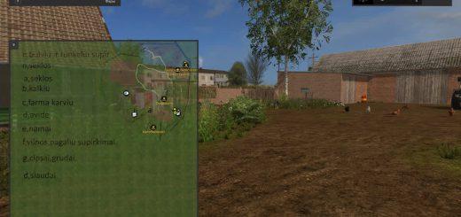 Русские карты для игры мод Русская карта «Маленькая деревня» для Farming Simulator 2017