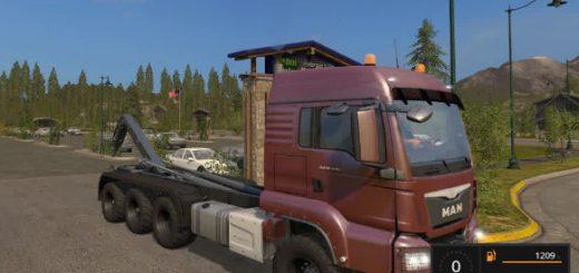 Грузовики для игры мод Мод грузовика MAN TGS крюковым погрузчиком для Farming Simulator 2017