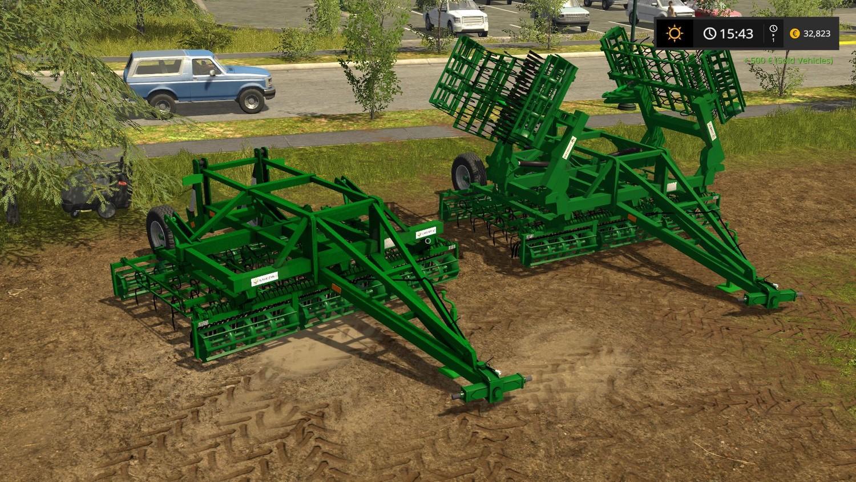 С/Х инвентарь для игры мод Мод-пак культиваторов «Laumetris Germinator» для Farming Simulator 2017