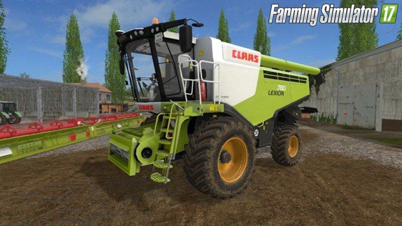 Комбайны для игры мод Мод-пак комбайн «Claas Lexion 780» и жатки для Farming Simulator 2017