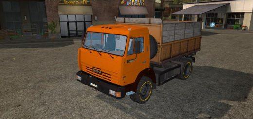 Русская техника для игры мод Мод на грузовик «КамАЗ Kipper» для Farming Simulator 2017