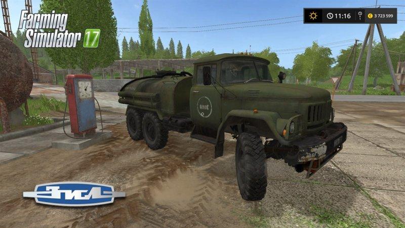 Русская техника для игры мод Мод грузовик ЗИЛ-131 «Заправщик» v1.0 для Farming Simulator 2017