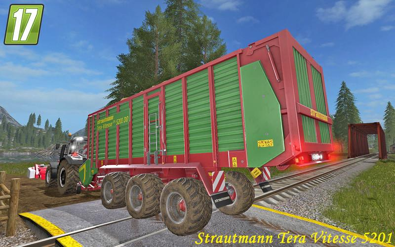 Прицепы для игры мод Мод прицеп-подборщик «Strautmann Vitesse 5201» для Farming Simulator 2017