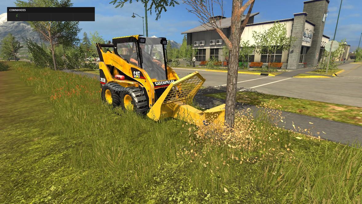 Погрузчики для игры мод Мод погрузчик «Caterpillar 262B» для Farming Simulator 2017