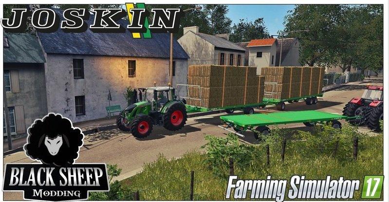 Прицепы для игры мод Мод прицеп для перевозки тюков для Farming Simulator 2017