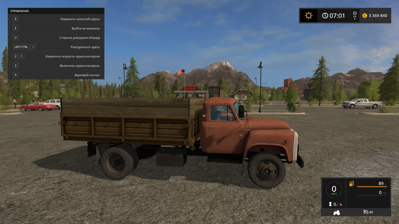 Русская техника для игры мод Мод на грузовик «ГАЗ 53» для Farming Simulator 2017