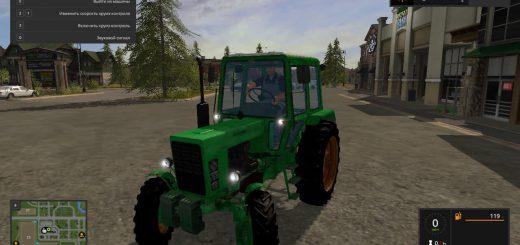Русская техника для игры мод Мод трактора МТЗ 82 для Farming Simulator 2017