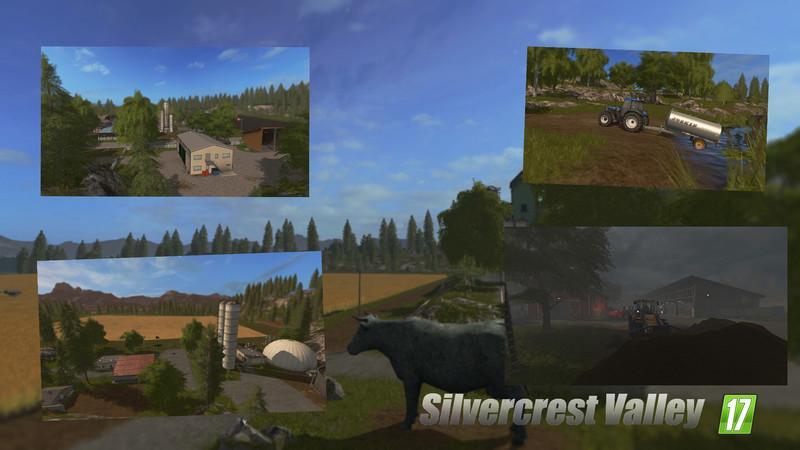 Карты для игры мод Карта «Silvercrest Valley» для Farming Simulator 2017