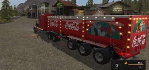 Прицепы для игры мод Мод прицепа Coca Cola для Farming Simulator 2017
