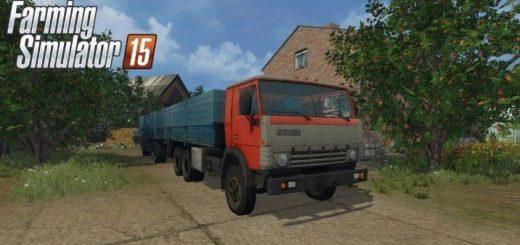 Прицепы для Мод  грузовик Камаз 53212 и прицеп для Farming Simulator 2015
