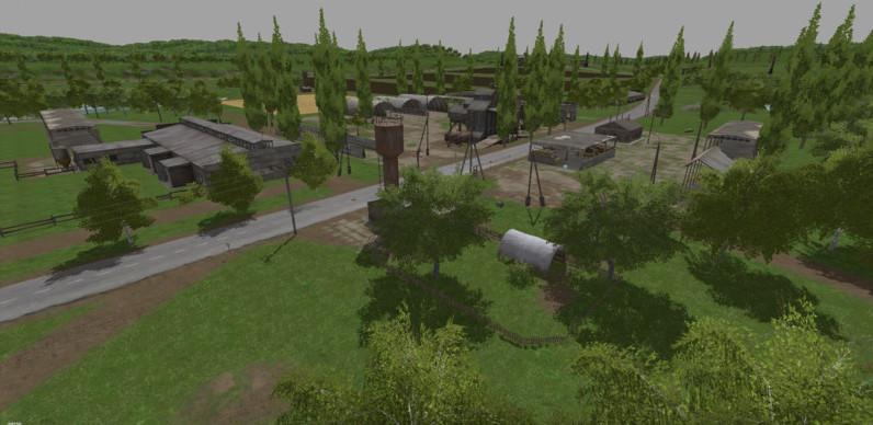 Карты для игры мод Русская карта Сосновка v 1.0 для Farming Simulator 2017