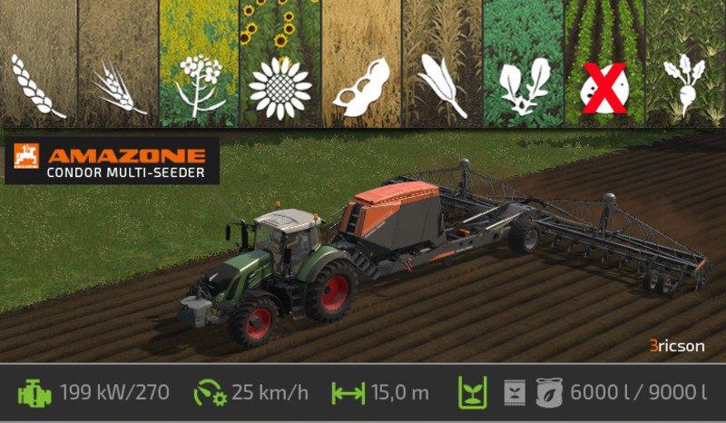 Сеялки для игры мод Мод универсальная сеялка «Amazone» для Farming Simulator 2017