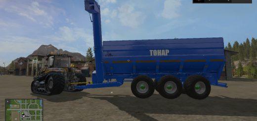 Прицепы для игры мод Мод прицеп ТОНАР ПТ 1 перегрузчик для Farming Simulator 2017
