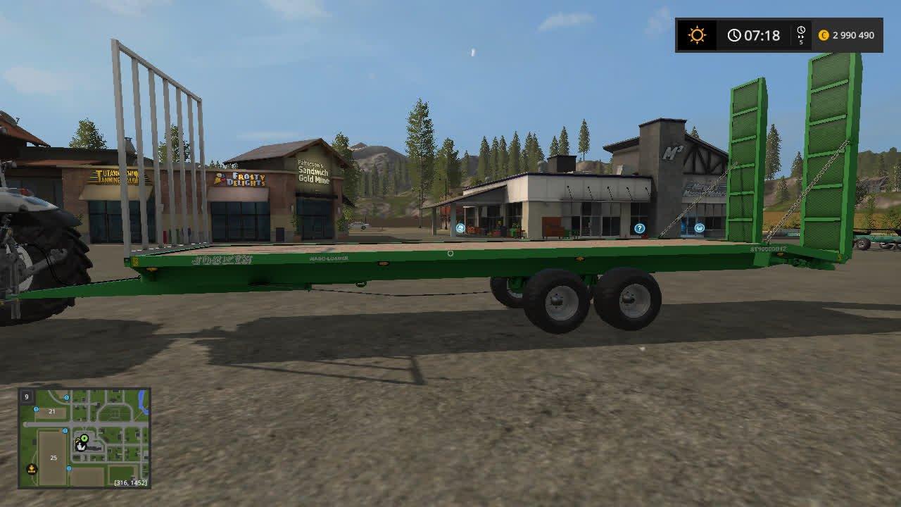 Прицепы для игры мод Мод прицеп для тюков и техники для Farming Simulator 2017