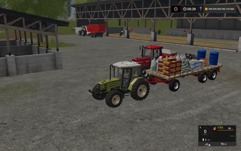 Прицепы для игры мод Мод прицепа (с семенами, удобрениями, топливом) для Farming Simulator 2017
