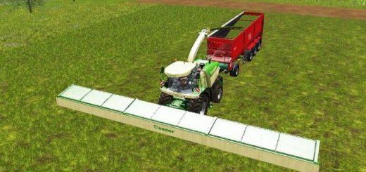 С/Х инвентарь для игры мод Мод жатки Krone XDisc 1860 v 1.0 для Farming Simulator 2017