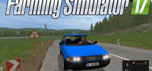 Машины для игры мод Мод машина Audi 80 B3 v1.0 для Farming Simulator 2017