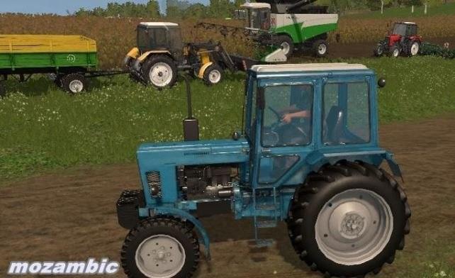 Русская техника для игры мод Мод трактор «МТЗ 80» для Farming Simulator 2017