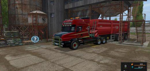 Грузовики для игры мод Мод тягач «Scania T164» для Farming Simulator 2017