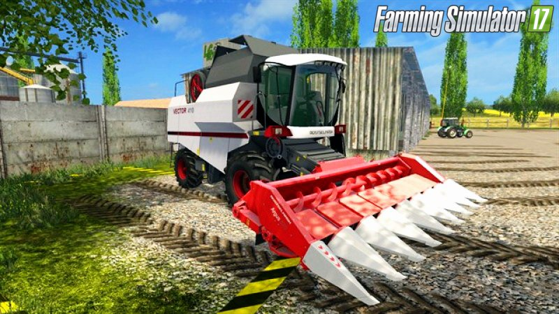Русская техника для игры мод Мод комбайн «Ростсельмаш Вектор 410» для Farming Simulator 2017