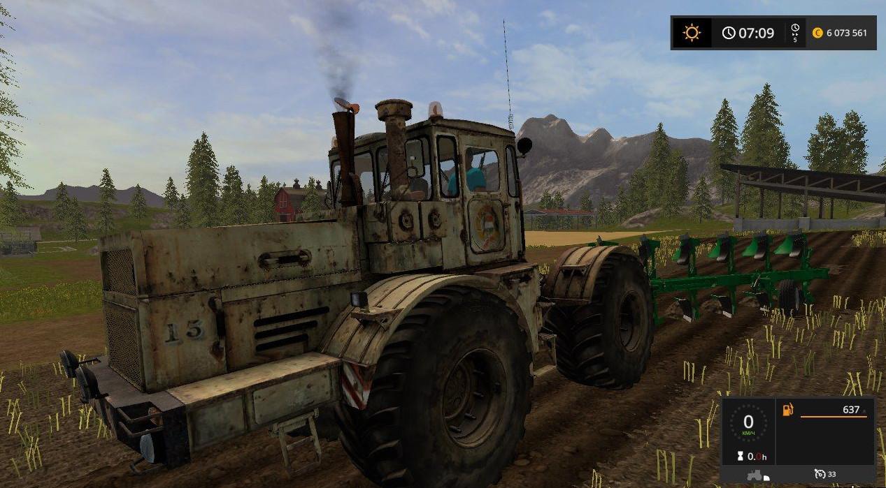 Русская техника для игры мод Мод на трактор Кировец К-701 для Farming Simulator 2017