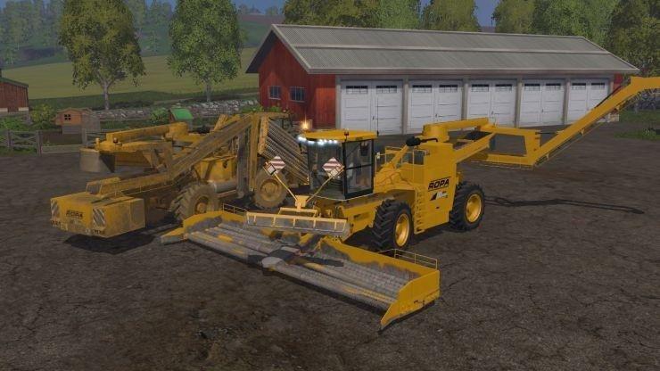 Комбайны для игры мод Мод комбайн для уборки свеклы Ropa Euro Maus для Farming Simulator 2017