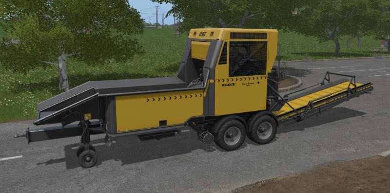 Лесозаготовка для игры мод Мод дробилка CAT Super Forest для Farming Simulator 2017