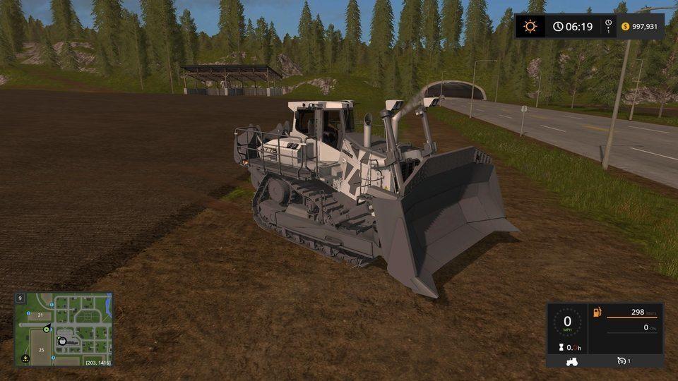 """Гусеничный транспорт для игры мод Мод бульдозер """"Liebherr PR 776 v 1.0"""" для Farming Simulator 17"""