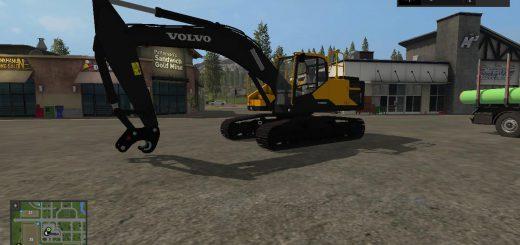 Гусеничный транспорт для игры мод VOLVO EC300E with a quick couler v1.0 для Farming Simulator 2017