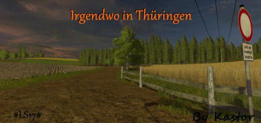 Карты для игры мод Карта «Somewhere in Thuringia v 1.0.3.0» для Farming Simulator 2017