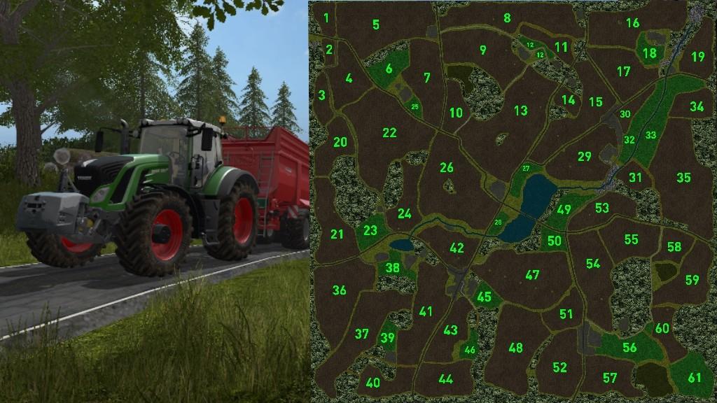 Карты для игры мод Карта Loess Hill Country для Farming Simulator 2017