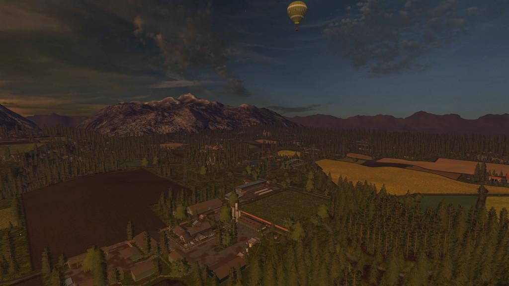 Карты для игры мод Карта Fichtelberg для Farming Simulator 2017