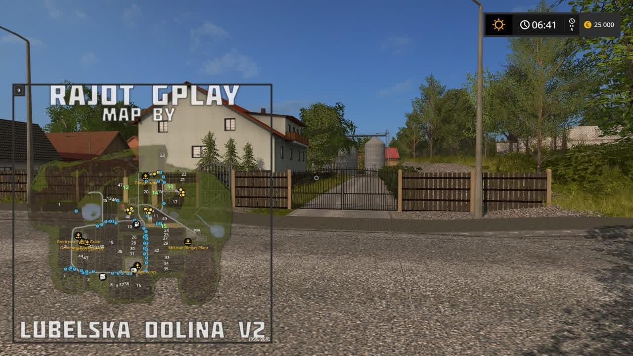 Карты для игры мод Карта Lubelska Dolina для Farming Simulator 2017