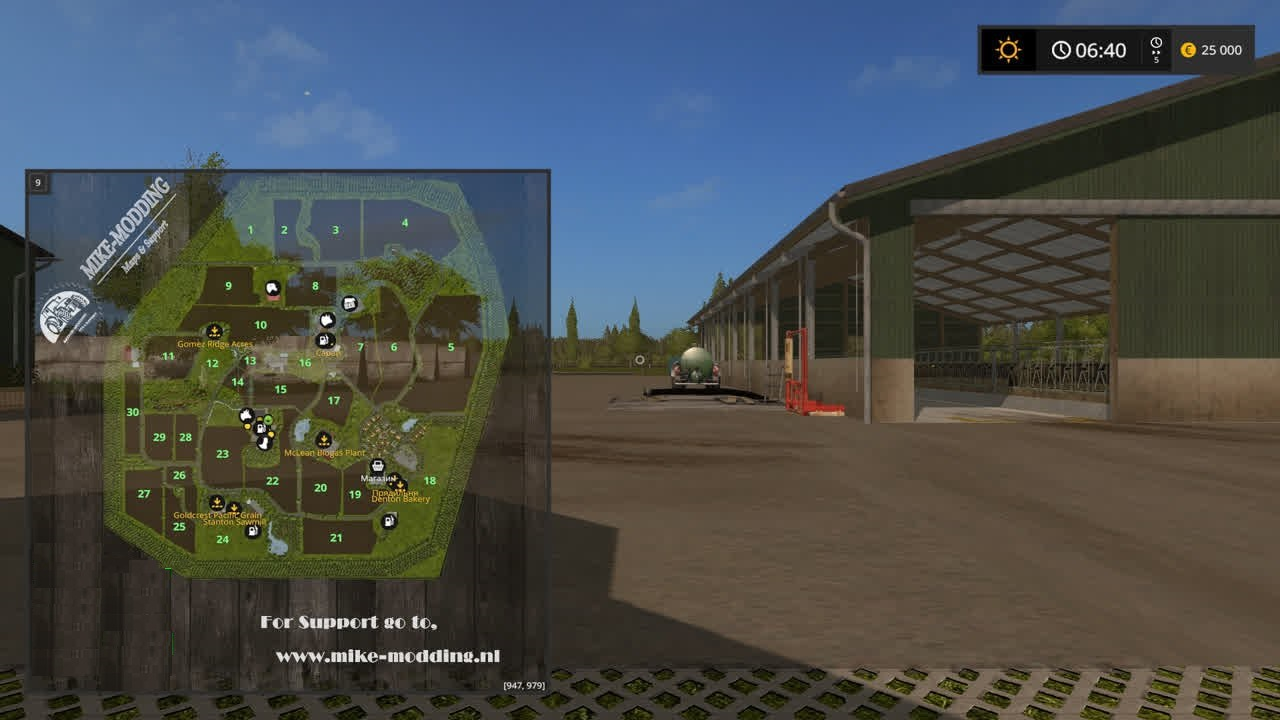 Карты для игры мод Карта Holland Landscape для Farming Simulator 2017