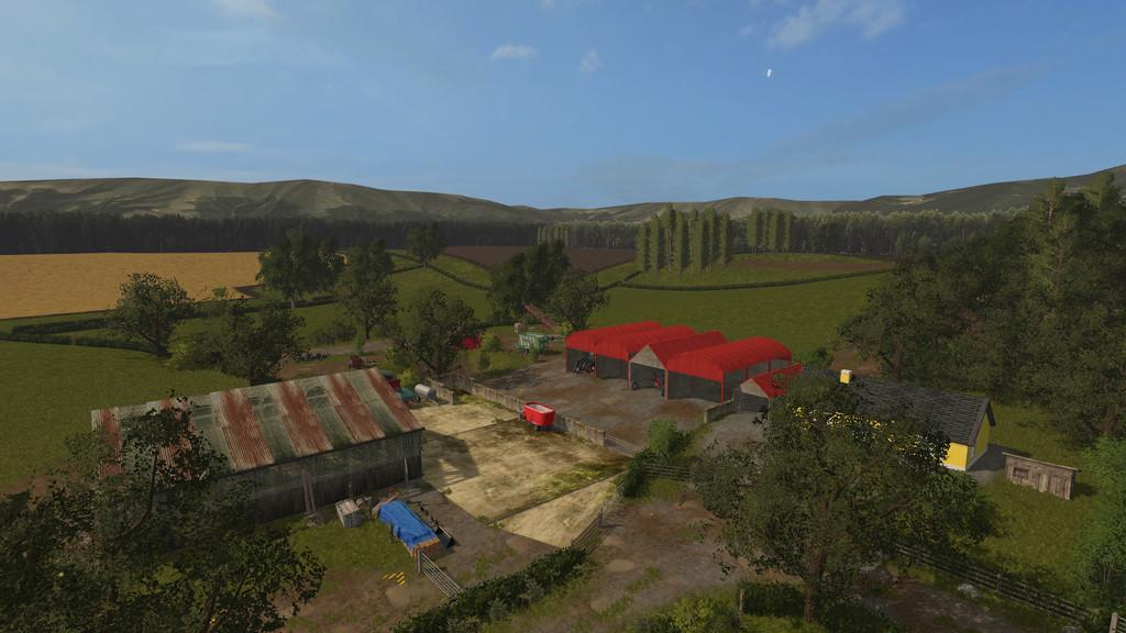 Карты для игры мод Карта Drumard Farm для Farming Simulator 2017