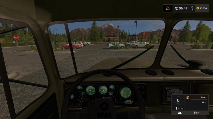 Русская техника для игры мод Мод на грузовик «Бортовой УРАЛ v1.0» для Farming Simulator 2017