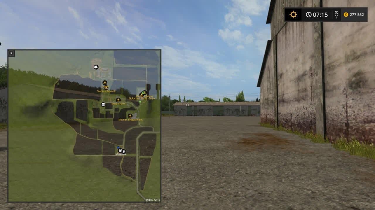 Карты для игры мод Карта Черкащина для Farming Simulator 2017