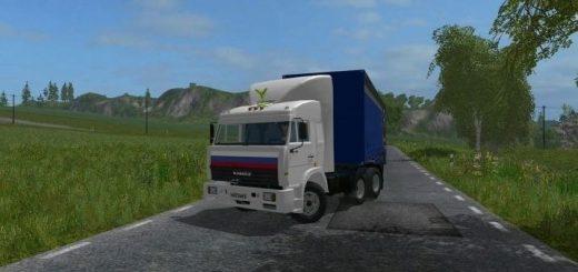 Русская техника для игры мод Мод на грузовик «КамАЗ 54115 V 4.0» для Farming Simulator 2017