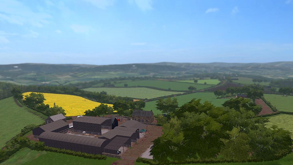 Карты для игры мод Карта Coldborough Park Farm для Farming Simulator 2017