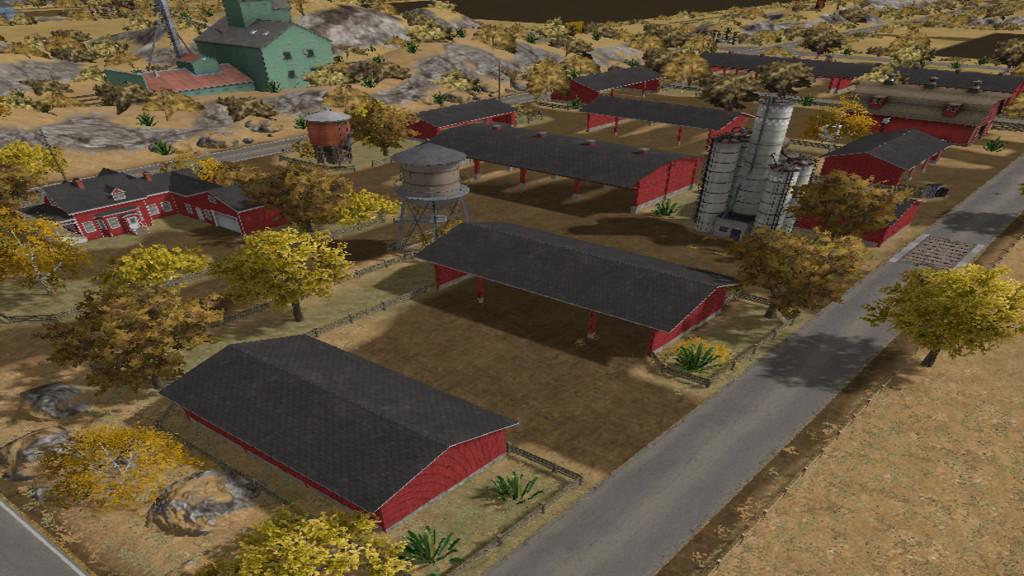 Карты для игры мод Карта American Outback для Farming Simulator 2017