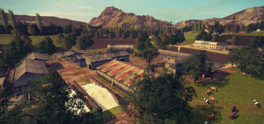 Карты для игры мод Карта The Old Stream Farm V2 для Farming Simulator 2017