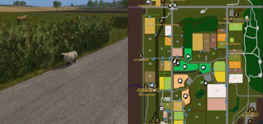 Карты для игры мод Карта Broxton для Farming Simulator 2017