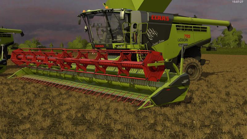 Комбайны для игры мод Мод комбайн «CLAAS Lexion 795 Monster Edition v1.0» для Farming Simulator 2017