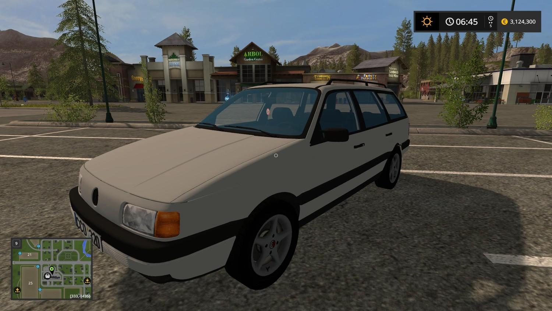 Машины для игры мод Мод машина «Volkswagen Passat B3 V1.0» для Farming Simulator 2017