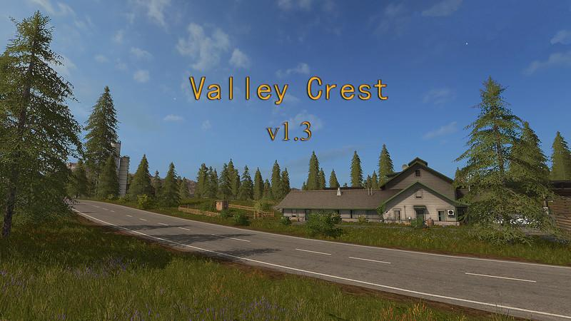 Карты для игры мод Карта Valley Crest 1 v1.3 для Farming Simulator 2017