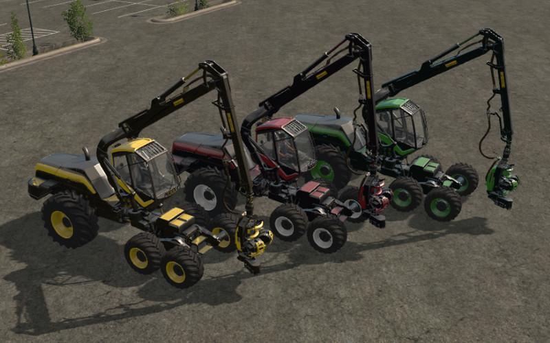 Гусеничный транспорт для игры мод Харвестер PONSSE Ergo v2.0 для Farming Simulator 17