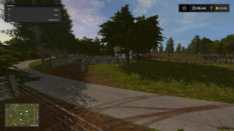 Карты для игры мод Карта THORNHILL FARM v1.2.0 для Farming Simulator 2017